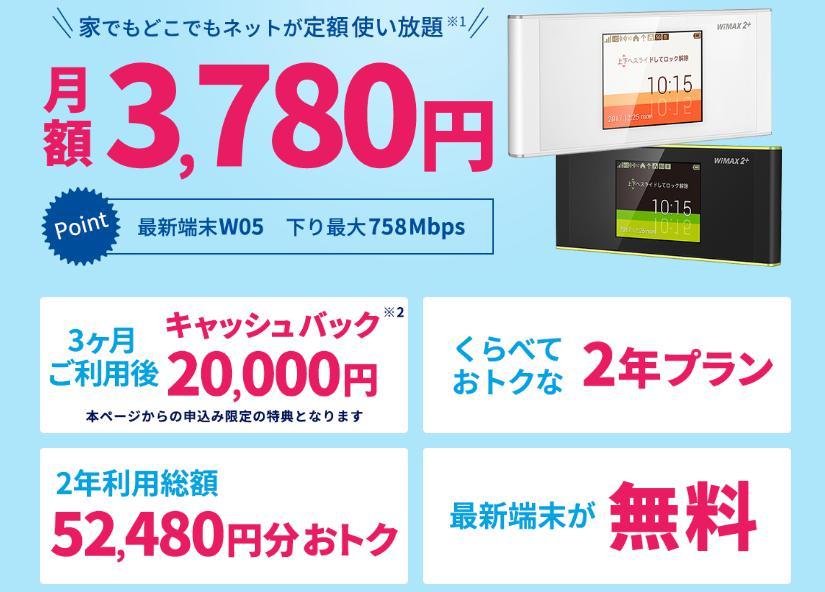 hi-ho WiMAX2+のキャンペーンとは