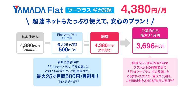 ヤマダ電機(YAMADA Air Mobile WiMAX)のポケットwifiの利用料金プランとは